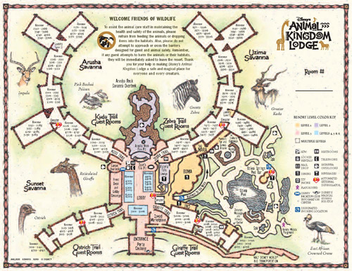 Disney's Animal Kingdom Villas at Jambo House Map