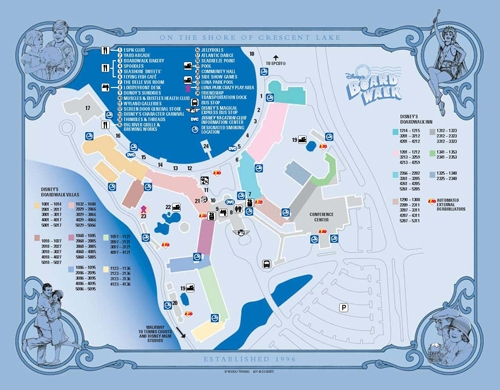 Disney's Boardwalk Villas Map