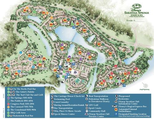 Disney's Saratoga Springs Resort and Spa Map