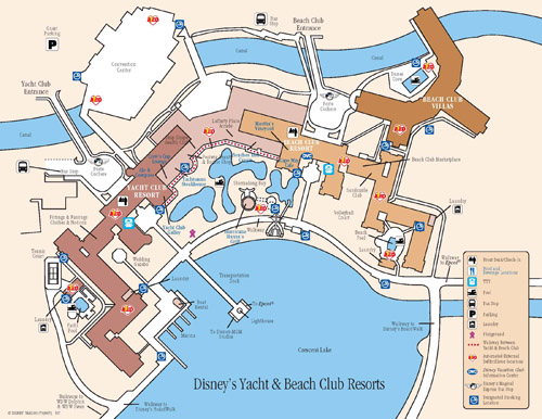 Disney's Beach Club Villas Map