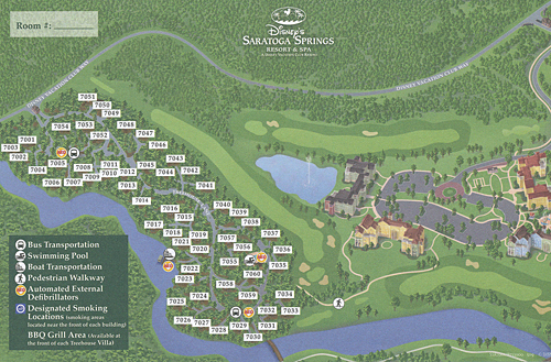 Treehouse Villas at Disney's Saratoga Springs Resort and Spa Map