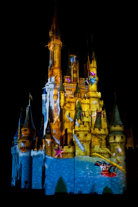 """The Magic, The Memories, and You!"" Castle projection show"
