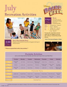 Boardwalk Activities July 2012