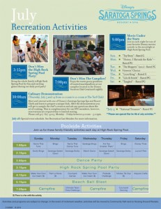 July 2012 Saratoga Springs Activities