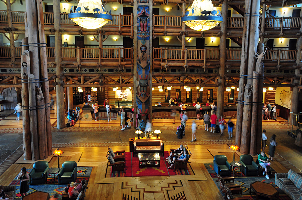 Lobby of Disney's Wilderness Lodge
