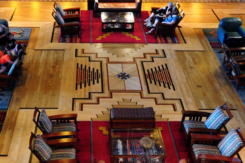 Floor of Disney's Wilderness Lodge
