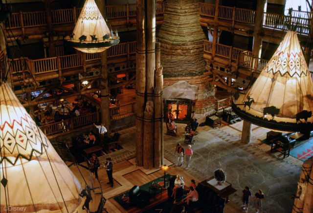 Fireplace at Disney's Wilderness Lodge