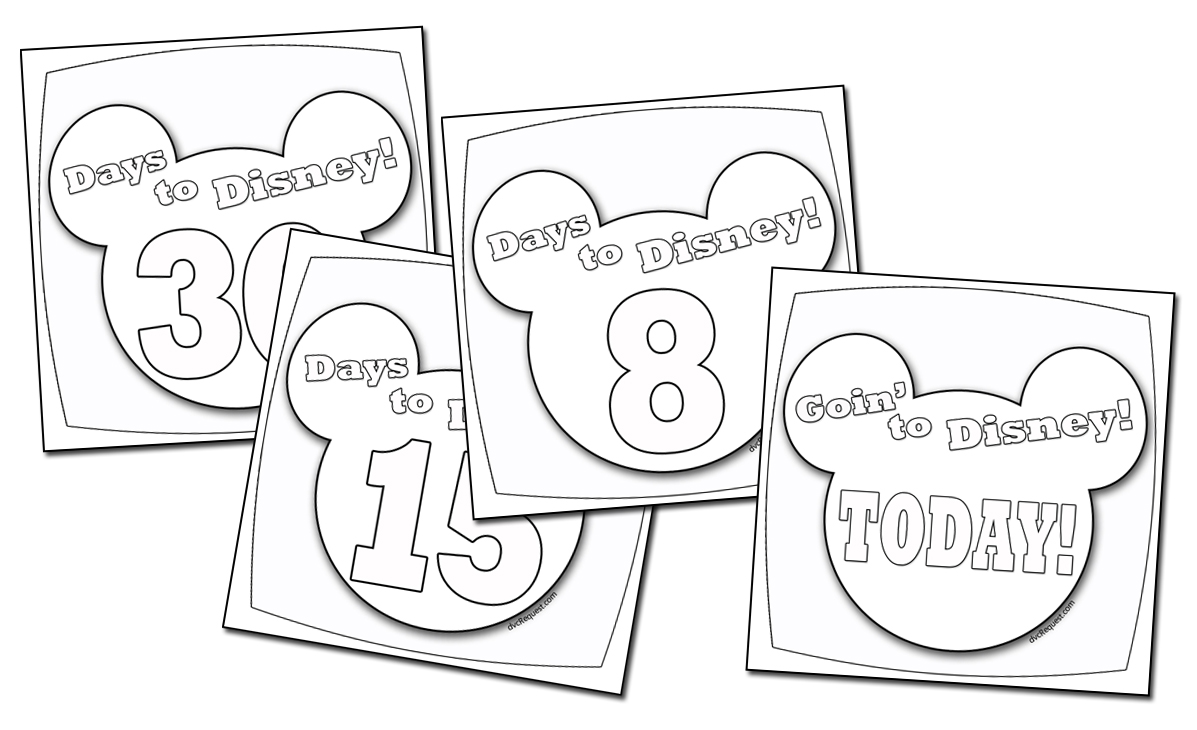 image about Disney Countdown Calendar Printable identified as A Disney Countdown Calendar By yourself Can Colour