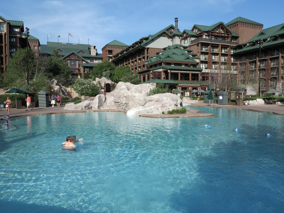 Pools at Disney   s Wilderness Lodge and VillasWilderness Lodge Pool Slide