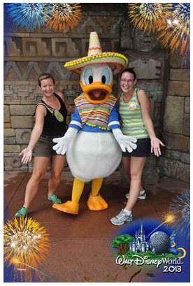 Melissa and Adrienne with Donald