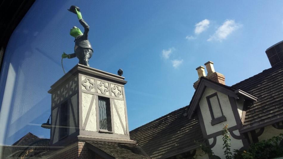 D2 kermit on roof