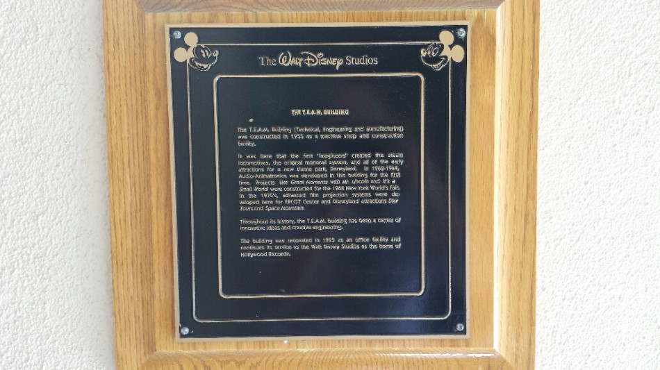 D3 Disney studios plaque