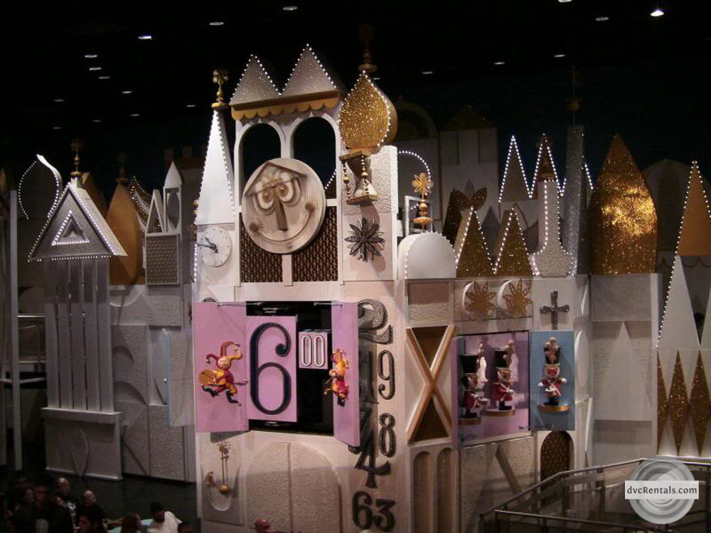 it's a small world clock n Magic Kingdom