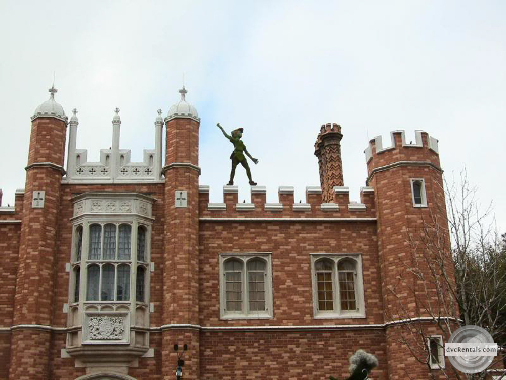 Peter Pan on rooftop in UK in Epcot