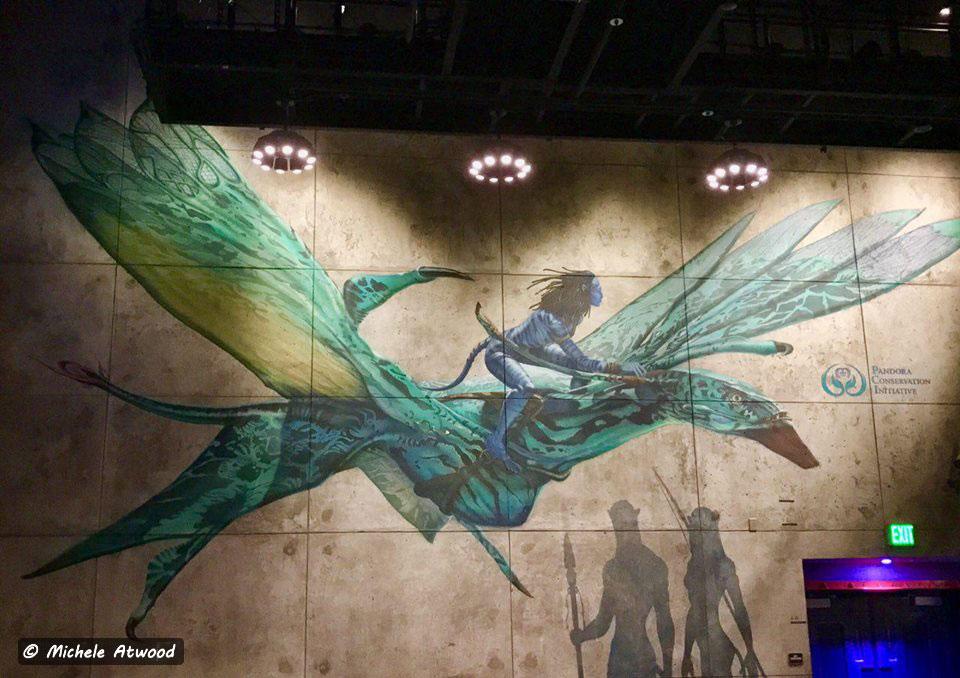 Avatar Pandora Flying Bird Painting