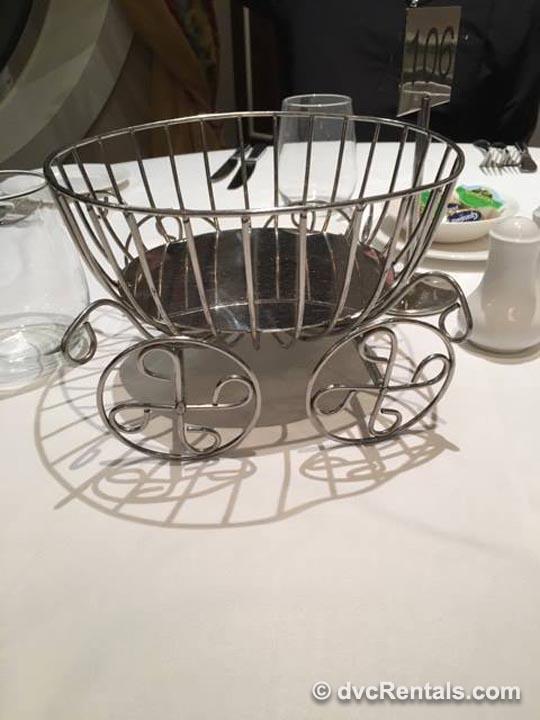 Royal Palace Cinderella's carriage breadbasket