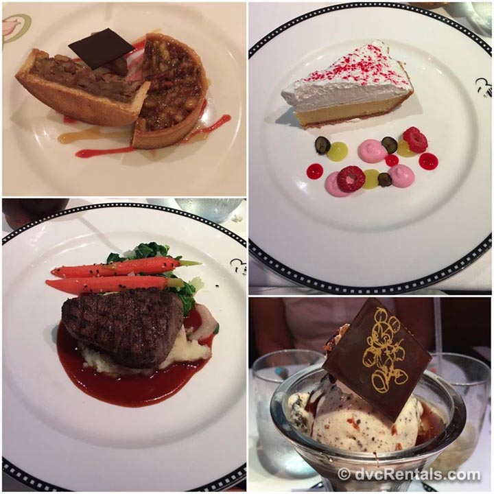Disney Cruise Dinner and Desserts