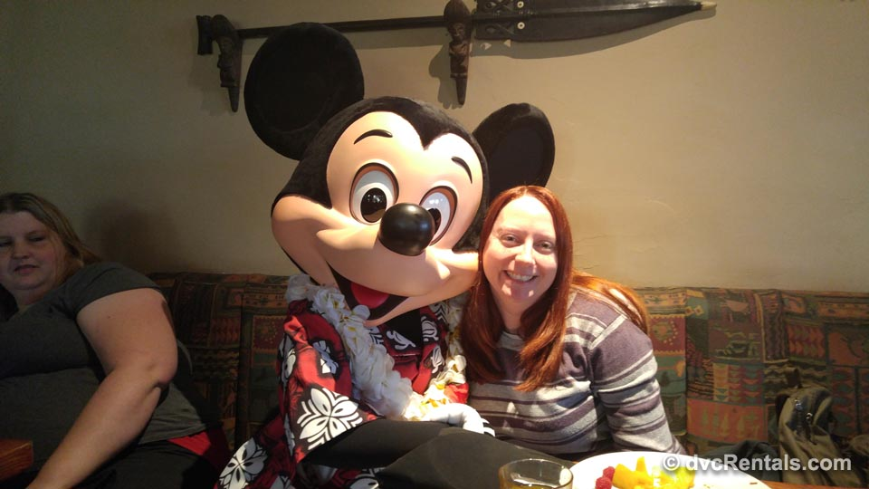 Mickey with DVC member