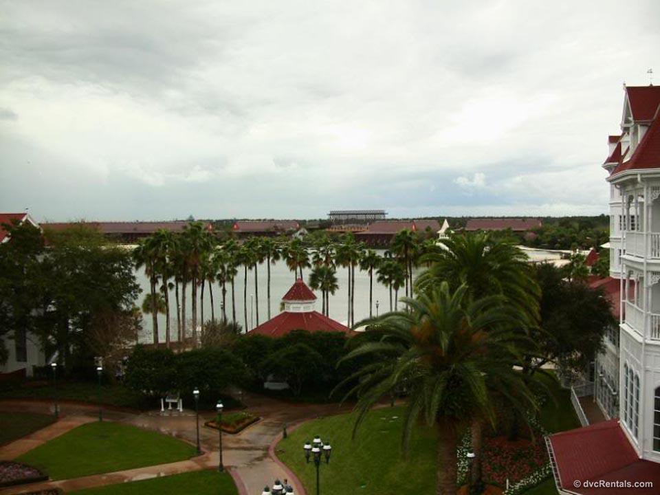 Polynesian and Swan Resorts Seen From Balcony