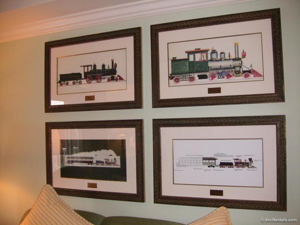 Train Sketches in Living Room