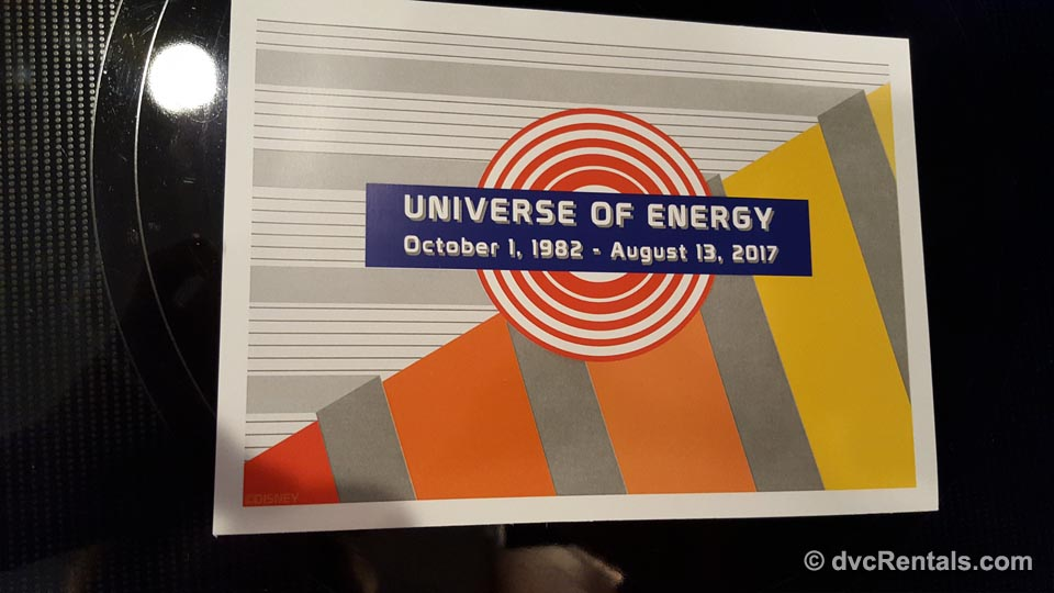 Universe of Energy Goodbye Back of Card