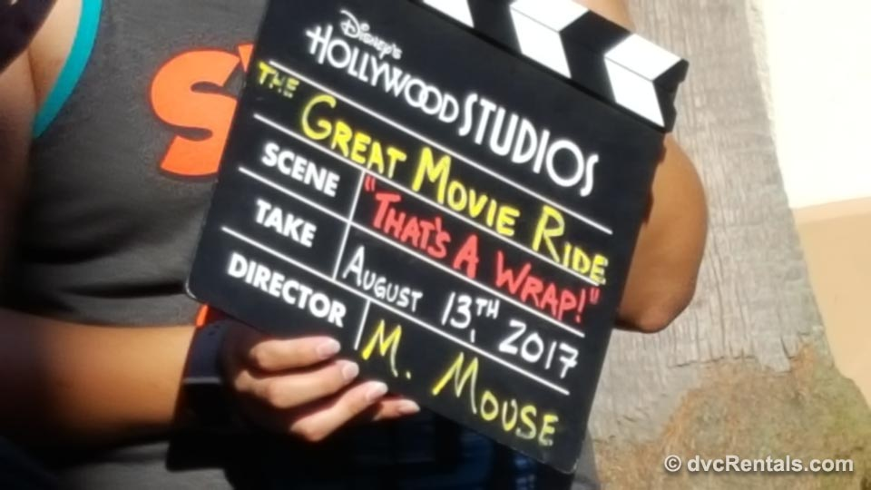 Great Movie Ride It's a Wrap Sign