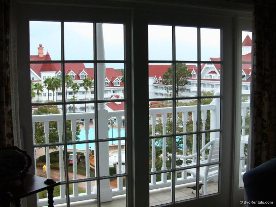 Inside the Suite, Looking Out at Balcony