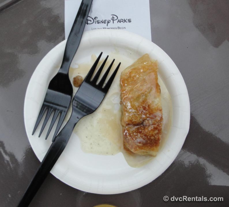 apple strudel from Germany at Disney Epcot