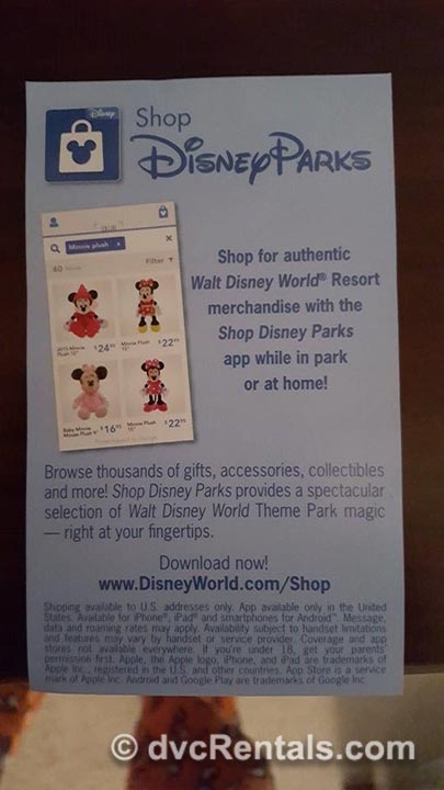 Shop Disney Parks App Info