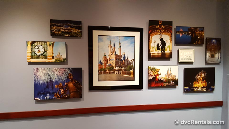 Park Pictures on wall at Disney University