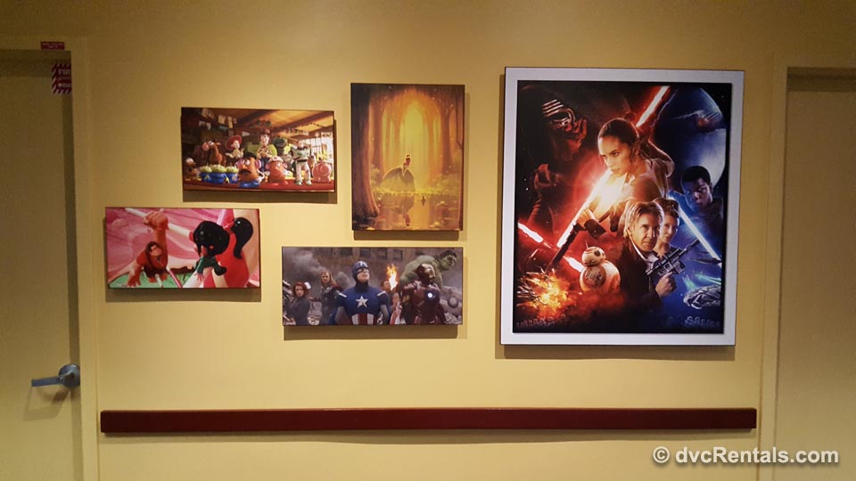 Star Wars Pictures on wall at Disney University