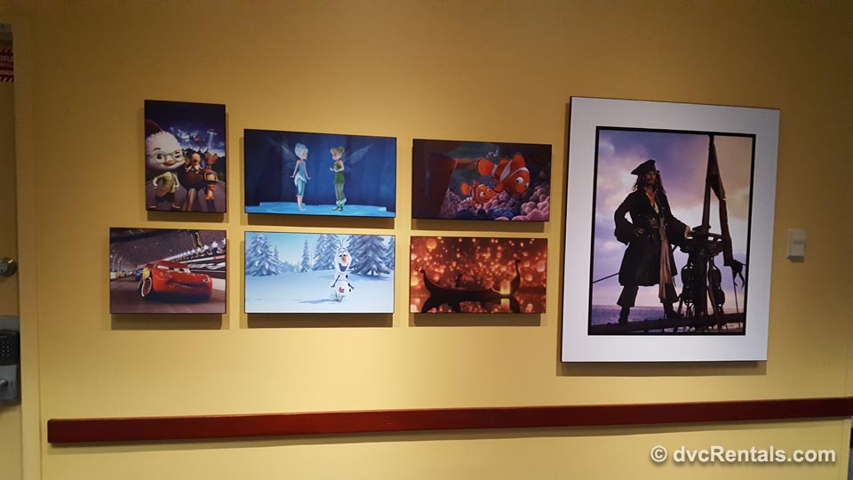 Nemo and other Disney Stars Pictures on wall