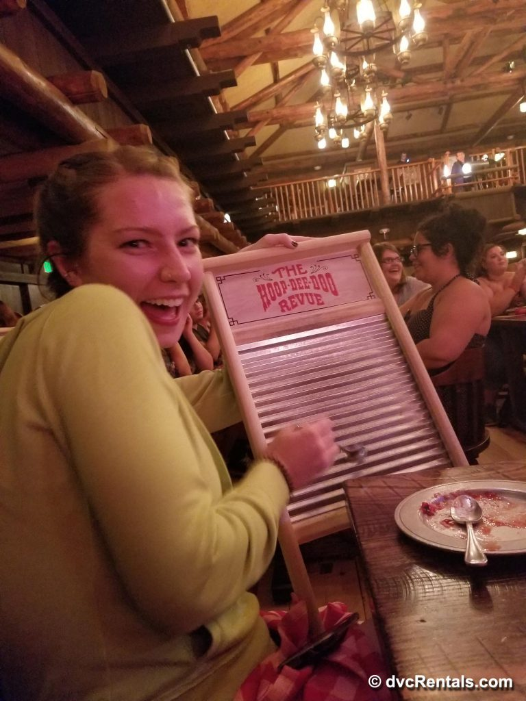 DVC Staff enjoying the Hoop-Dee-Doo Musical Revue