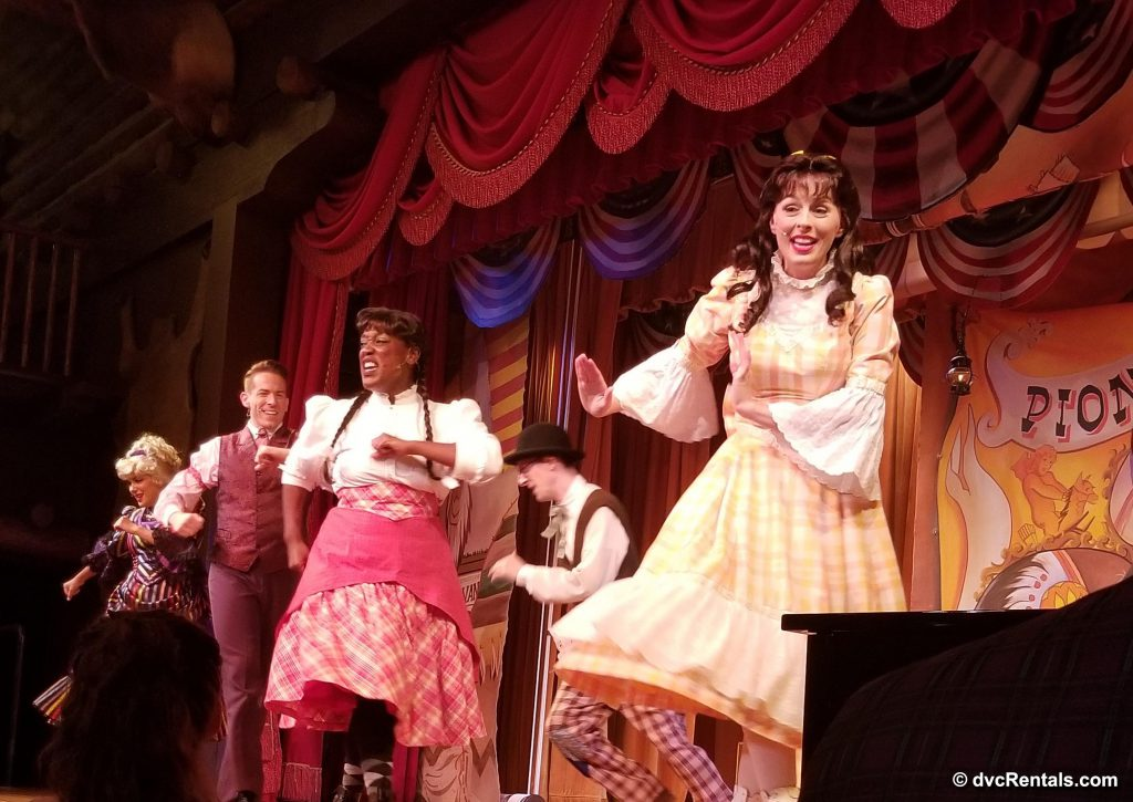 Group of Disney Actors in Hoop-Dee-Doo Musical