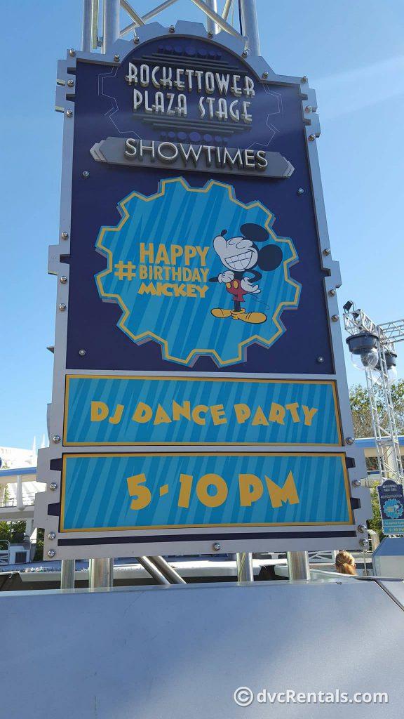 Mickey Birthday Dance Party in Tomorrowland