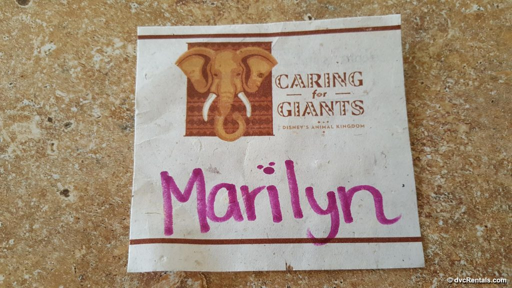 Nametag Made of Recycled Elephant Dung