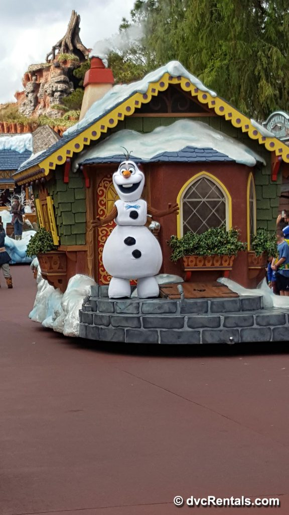 Olaf in Disney Christmas Parade