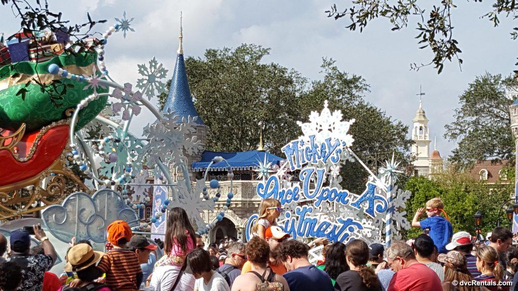 End of Disney Christmas Parade
