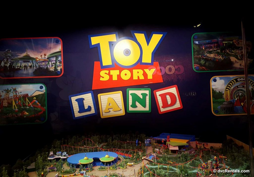 Toy Story Land display