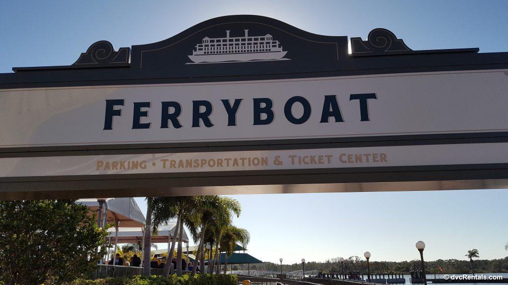 Sign at Magic Kingdom Ferryboat Dock