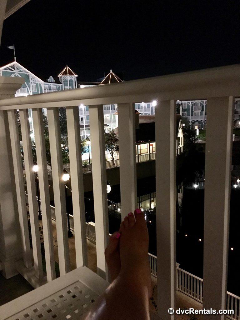 Sitting in Beach Club Balcony