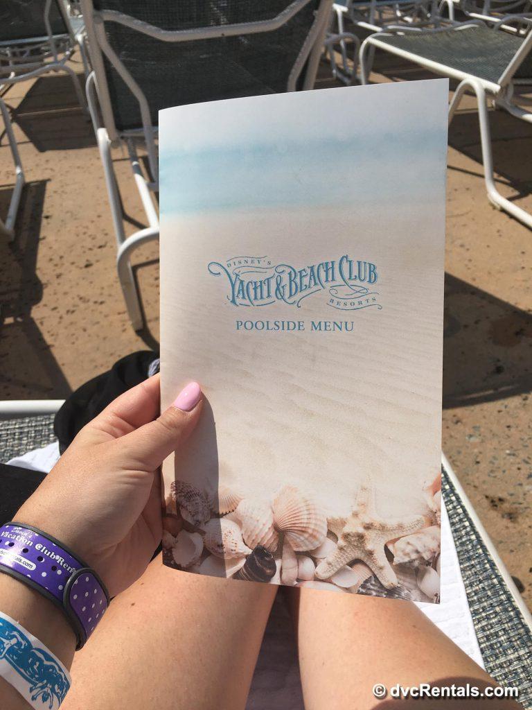 Yacht & Beach Club Poolside Menu