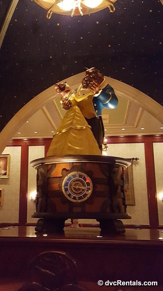 Statute of Beast and Belle dancing