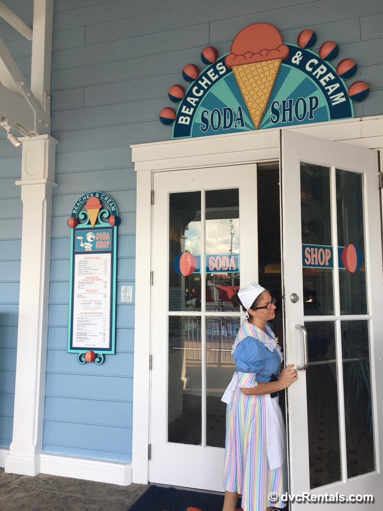 Beach Club snack stop Beaches and Cream Soda Shop