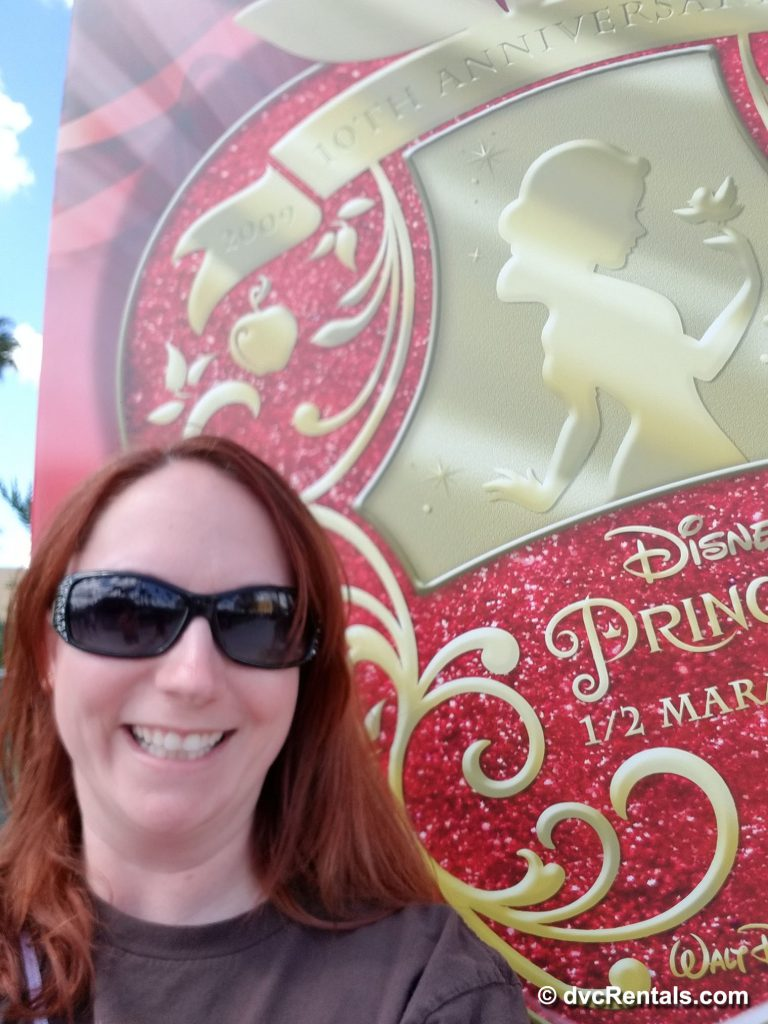Kelly at 10th anniversary Disney Princess Half Marathon