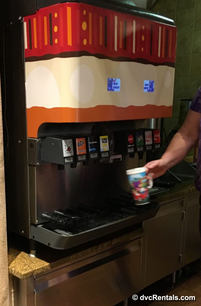 Soft Drink Dispenser for Refillable Disney Cups
