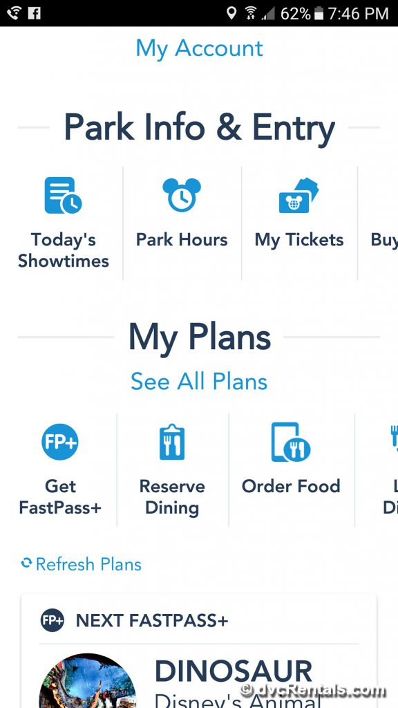 Booking with My Disney Experience App