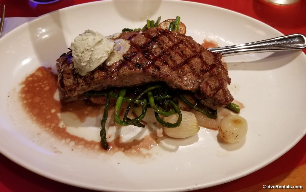Steak Dinner at Whispering Canyon Cafe, Wilderness Lodge