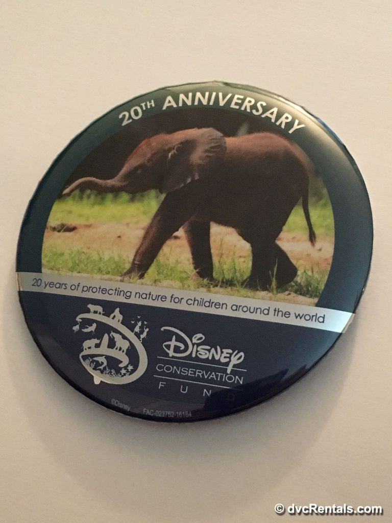 Button supporting the Disney Conservation Fund