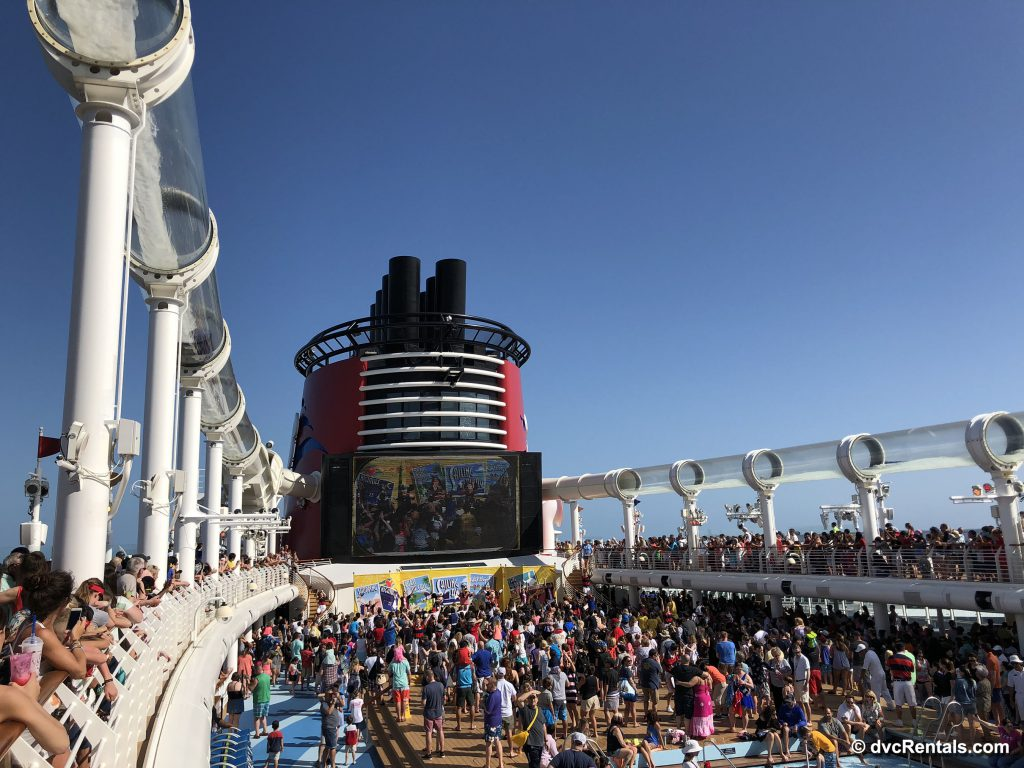 Sail Away Party on deck